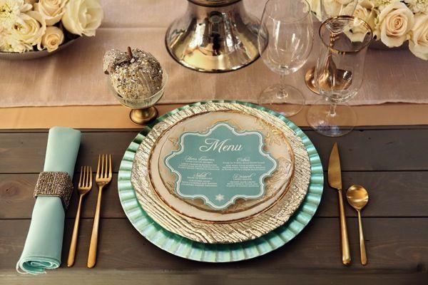 Wedding - Exquisite Mint & Gold Wedding Inspiration