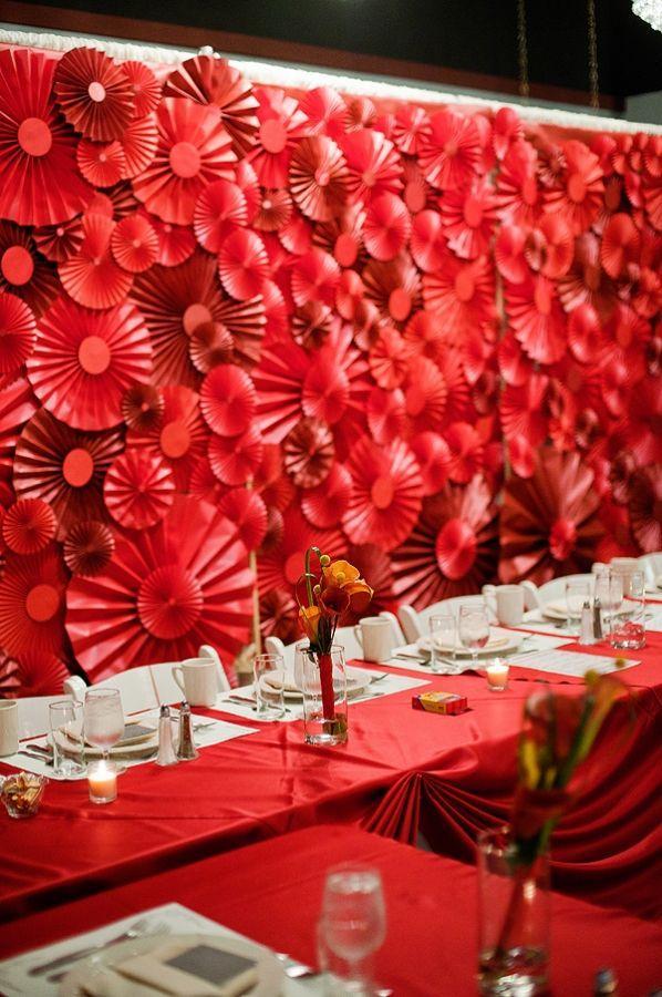 Red Wedding - Red Pinwheel Backdrop #2058886 - Weddbook