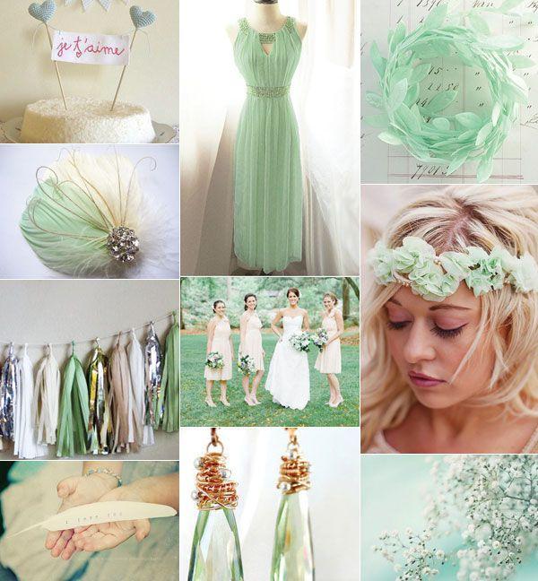 Hochzeit - Mint-Grün-Hochzeit Palette Inspiration
