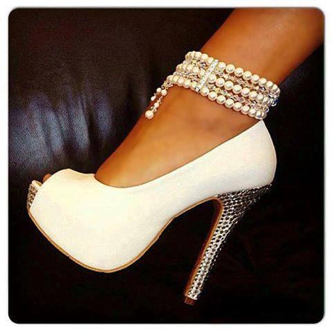 6227deed192 Wedding Nail Designs - Pretty Bridal Shoes  2059731 - Weddbook