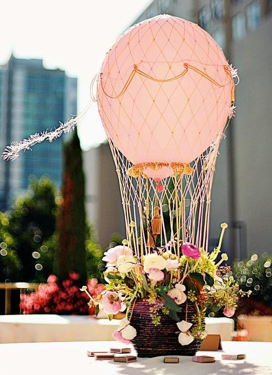 Wedding Balloons Hot Air Balloon Centerpiece 2059924 Weddbook