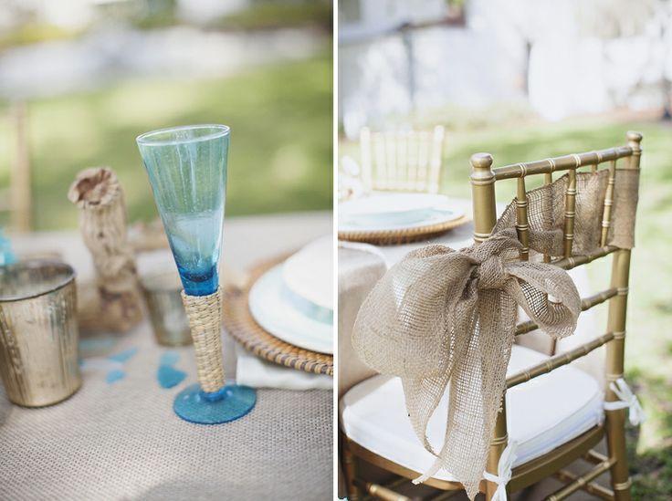 Hochzeit - Aqua-Hochzeits-Ideen Rustikales {