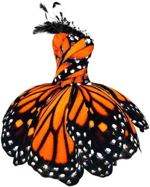 Wedding - Monarch Butterfly Dress