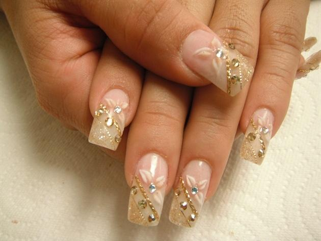 Gold Wedding Beauty Golden Nail Art 2060623 Weddbook