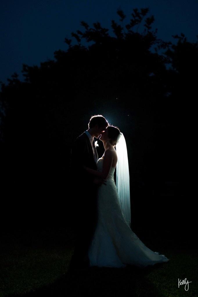 Wedding - Backlit Night Wedding Shot