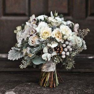 свадебный букет зимний фото