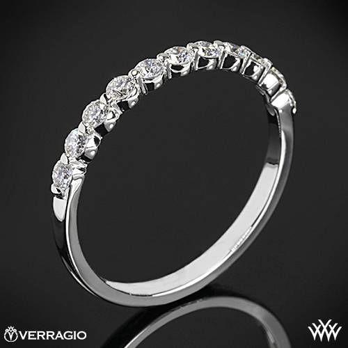 Hochzeit - 18k White Gold Verragio Einzel Prong Diamant-Hochzeit Ring