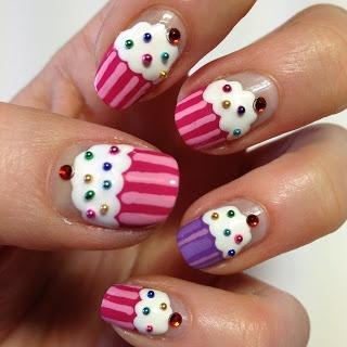 Wedding cupcakes cupcake nail art the nail trail 2061069 cupcake nail art the nail trail prinsesfo Image collections
