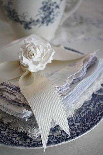 Hochzeit - Gefaltete Servietten