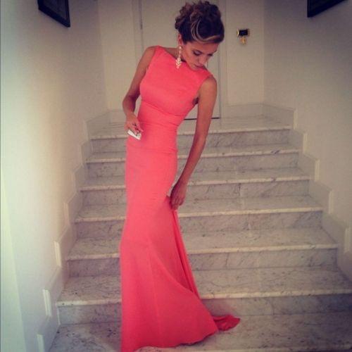 Длинные платья розовые в пол