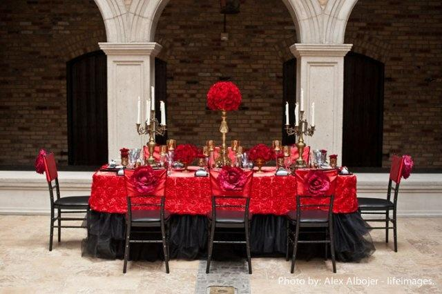 red wedding - red & black table decor #2061319 - weddbook
