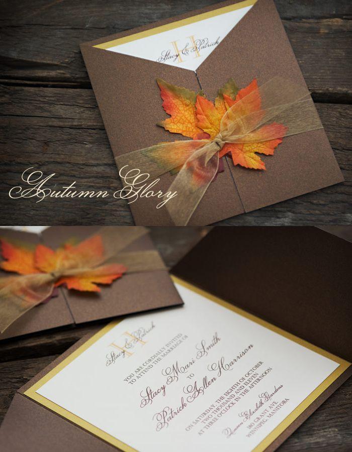 Herbst Hochzeit Fall Einladungen 2061469 Weddbook