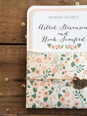 garten-hochzeit - floral hochzeit einladung set #2061522 - weddbook, Einladung