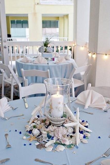 Свадьба - Пляж Свадебные Украшения Со Свечой
