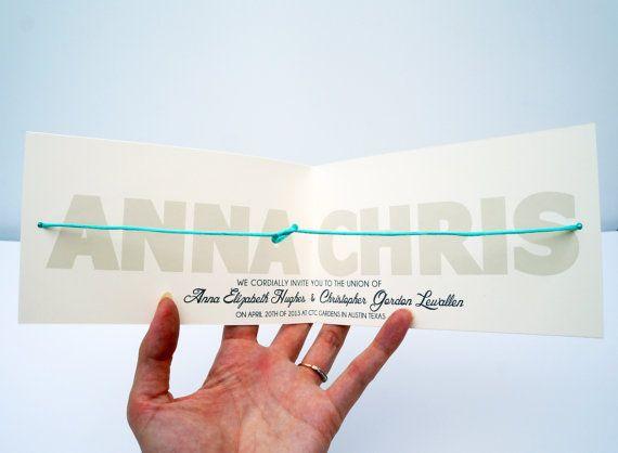Help Us Tie The Knot LITERALLY   Wedding Invitation DIGITAL DESIGN