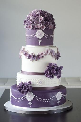 Wedding - Purple Hydrangea Cake