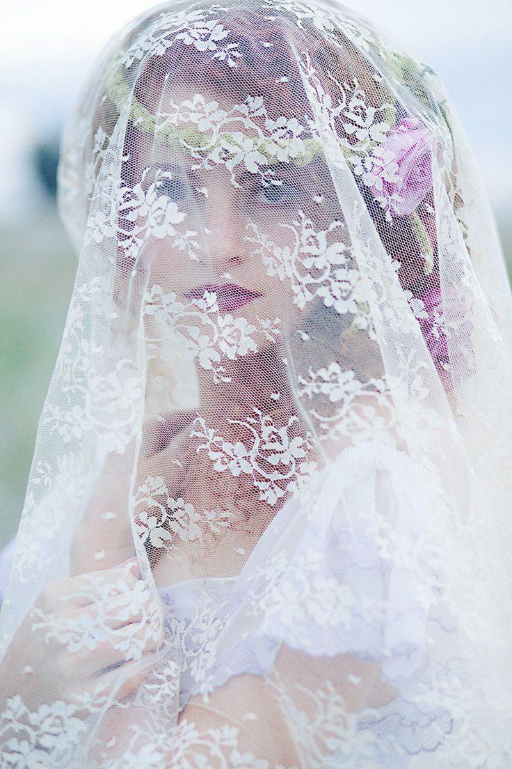 Wedding - Bridal Veil, Lace, Red Head, Beauty