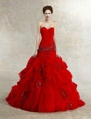 Valentine S Day Red Wedding Dress 2061790 Weddbook