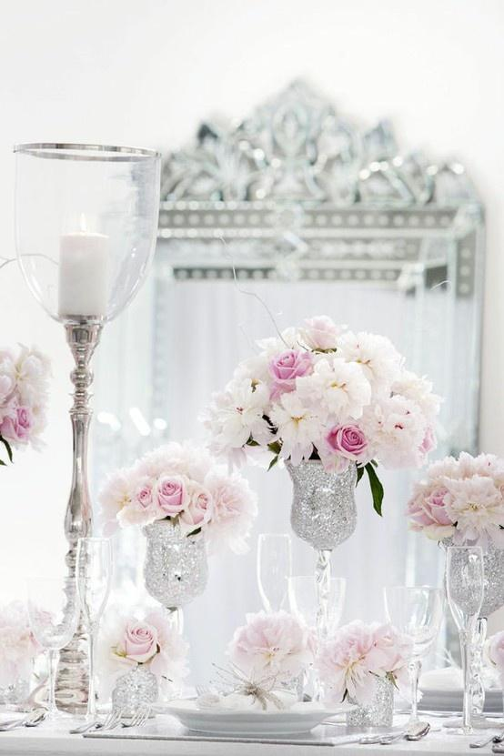 Decoration De Table Simple Et Romantique