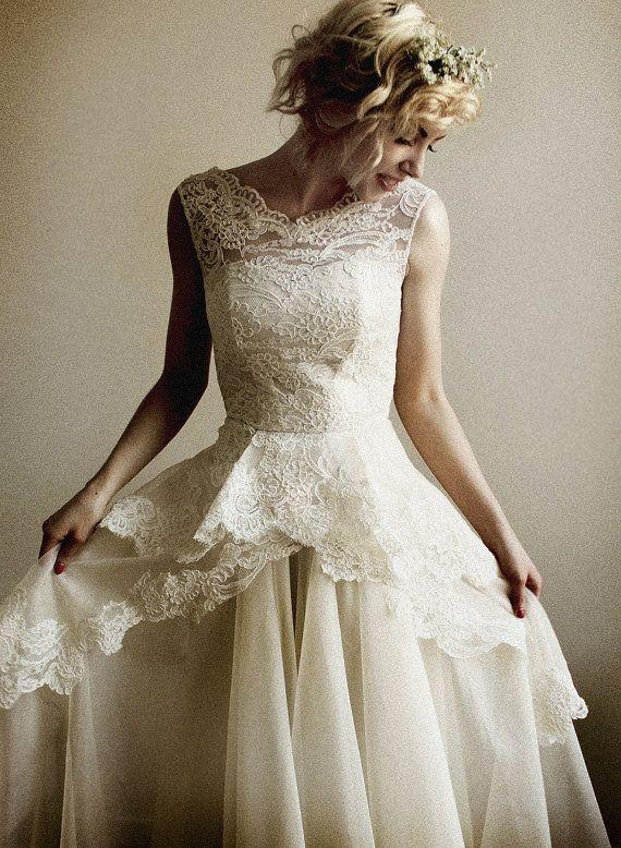 Mireille Silk Organza And French Lace Wedding Gown 2061827