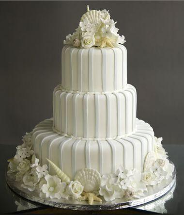 Свадьба - Белое Свадебное Shell Торт