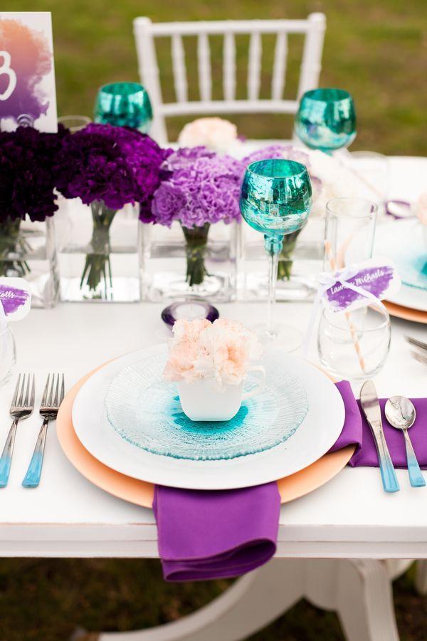 Wedding - Purple And Teal