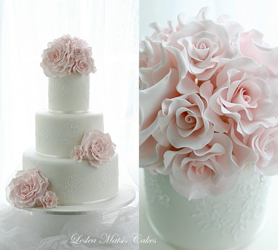 Pink Wedding - Rosa Rosen Mit Paspelierung Spitze #2062032 - Weddbook