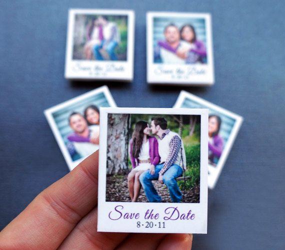 Wedding - 100 Custom Mini Polaroid Magnets