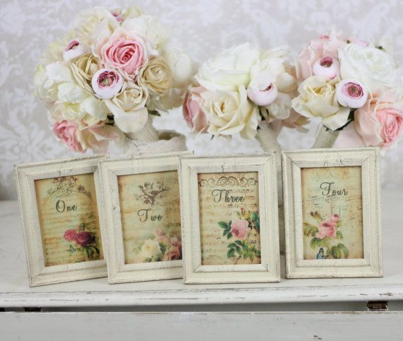 Vintage Wedding - Table Numbers #2062146 - Weddbook