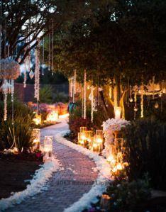 Garden Wedding - Walkway At Night #2062150 - Weddbook