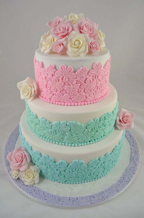 Pastel Wedding Pastel Rose Cake 2062151 Weddbook