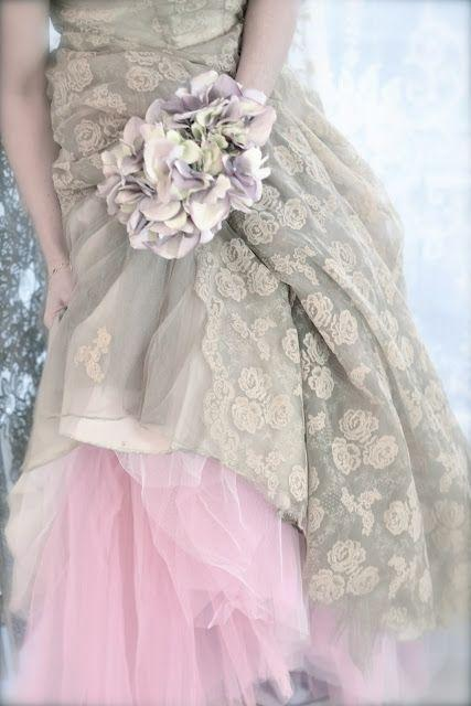 Wedding dresses grey wedding dress w pink slip 2062490 for Gray dresses for a wedding