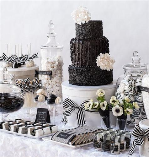Matrimonio Tema Black And White : Matrimonio in bianco e nero black white dolci table