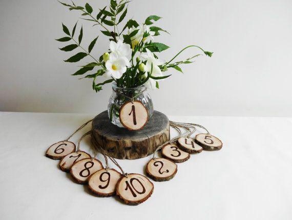 Zahlen Die Holz Tabellen Zahlen Baum Scheibe Tabellen Zahlen