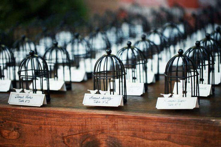 Свадьба - Клетка Для Птиц Эскорт-Карты