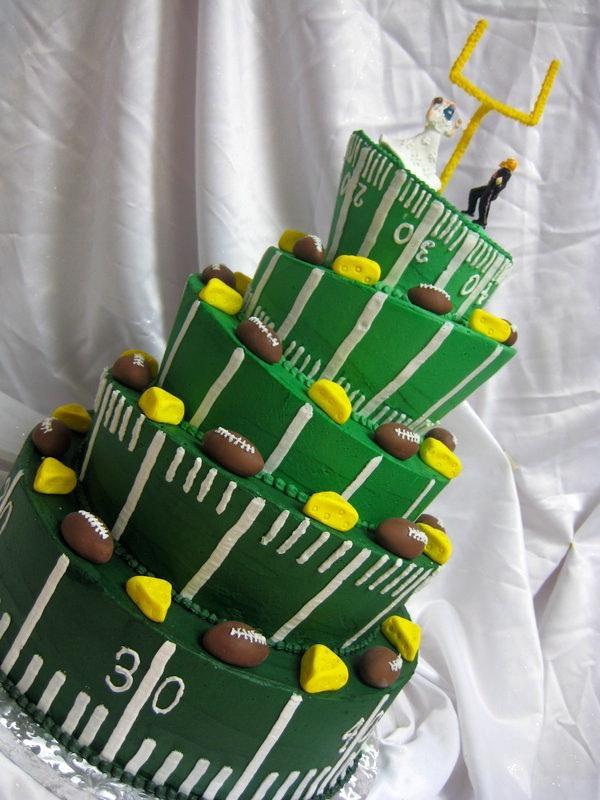 Sports Wedding - Green Bay Packers Wedding Cake #2062802 - Weddbook