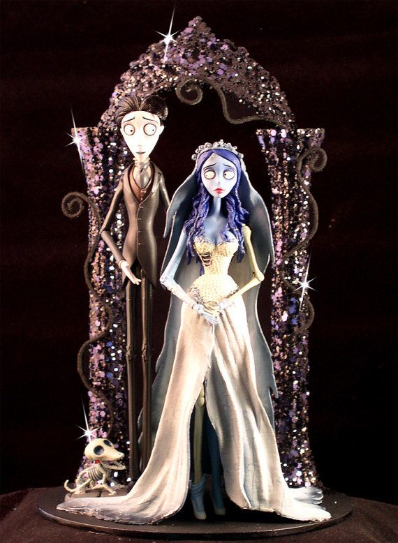 Corpse Bride Wedding Cake Topper Tim Burton Lighted - Halloween ...