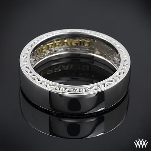 14k White Gold Verragio High Polish Wedding Ring #2062968