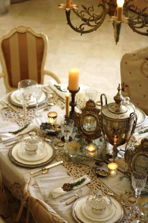 Romantic Vintage Table Settings. & Romantic Wedding - Romantic Vintage Table Settings.. #2063006 - Weddbook