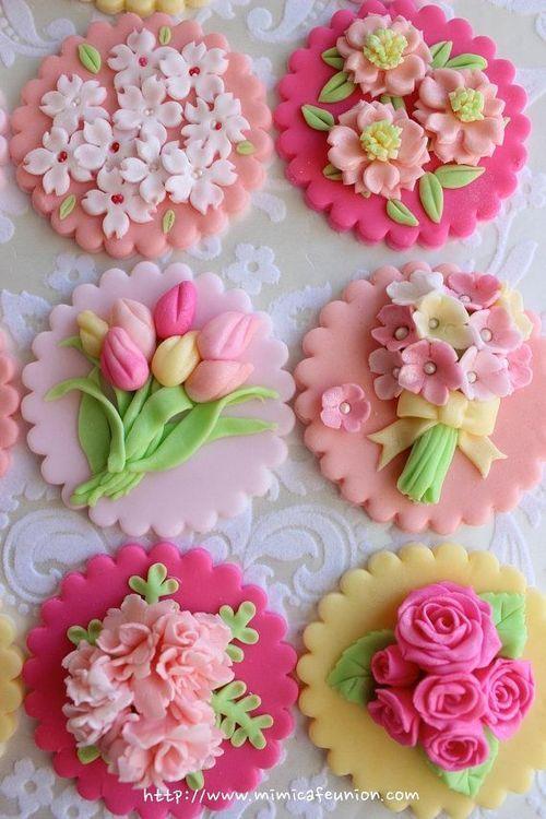 Spring Wedding New Fondant Cute Cupecakes 2063224