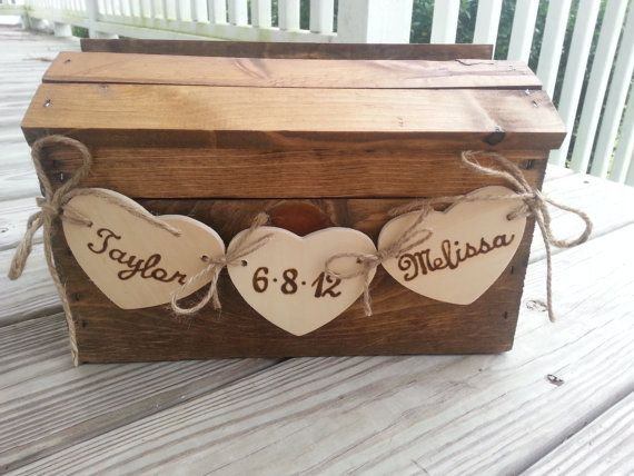 Wedding - Rustic Wedding Card Box, Fall Wedding Card Box, Country Wedding, Barn Wedding, Wedding Card Box