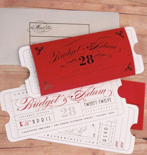 Formal Vintage Ticket Wedding Invitation 2063286 Weddbook