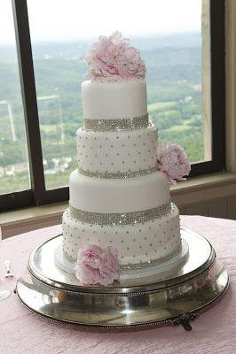 Wedding Cakes - Pink Bling Wedding Cake #2063308 - Weddbook