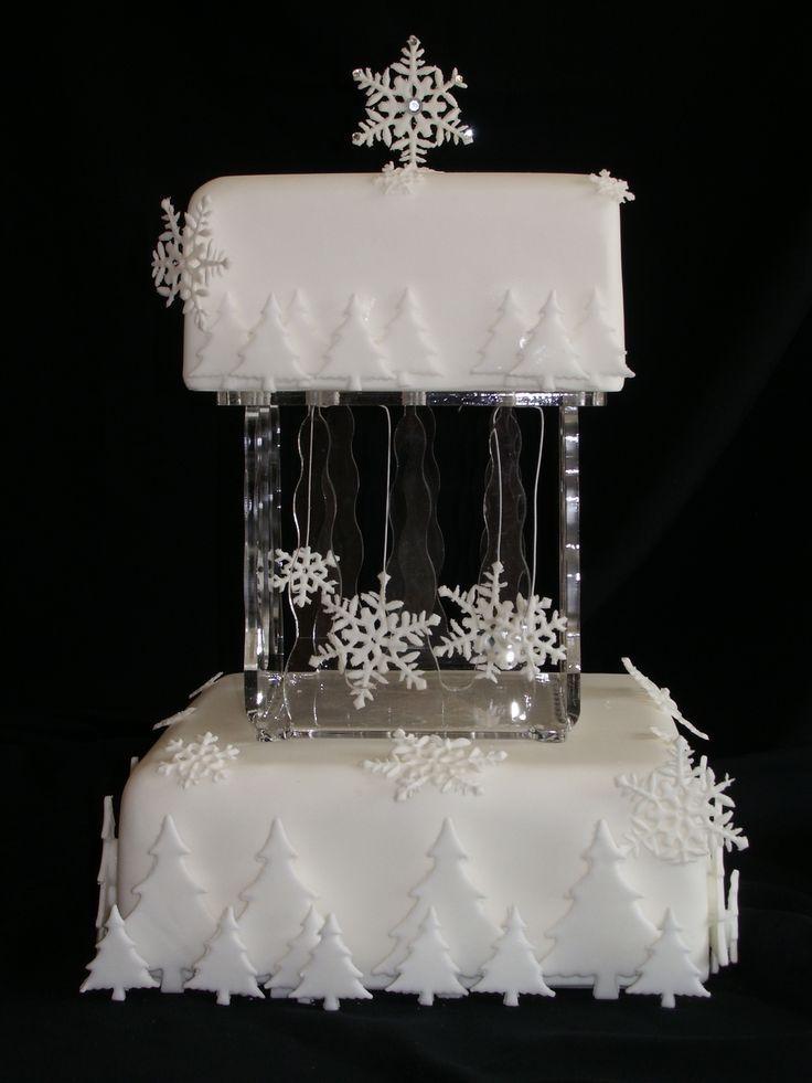 Winter-Hochzeit - Winter-Hochzeitstorte #2063415 - Weddbook