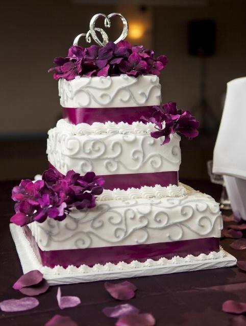 Lila Hochzeit - Lila Und Grau Kuchen #2063503 - Weddbook