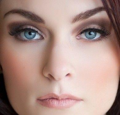 Bridal Makeup For Blue Eyes And Brown Hair : Blue Wedding - Smokey Eyes For Blue Eyes #2063592 - Weddbook