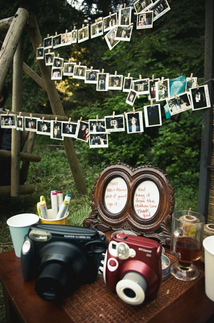 Retro Hochzeits Polaroid Hochzeitsempfang Gastebuch 2063655