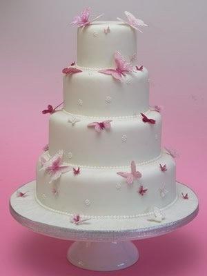 Schmetterlings Hochzeits Pink Butterfly Hochzeitstorte 2063773