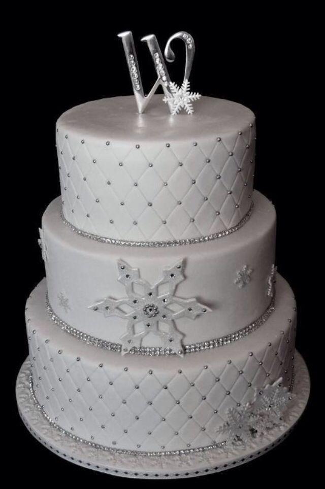 Winter-Hochzeit - Winter-Hochzeitstorte #2063958 - Weddbook