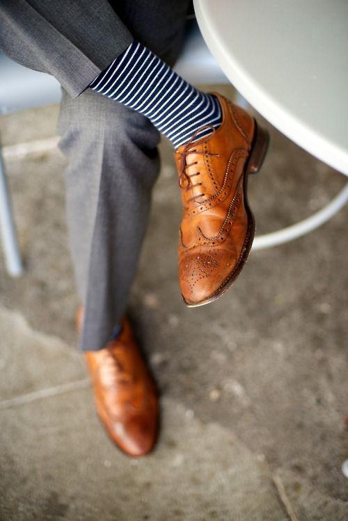 Hochzeit - Gestreifte Socken für den Bräutigam